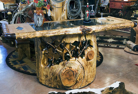 furniture made from tree trunks. Horn Mountain Living - Bar \u0026 Wine Rack Furniture Made From Tree Trunks