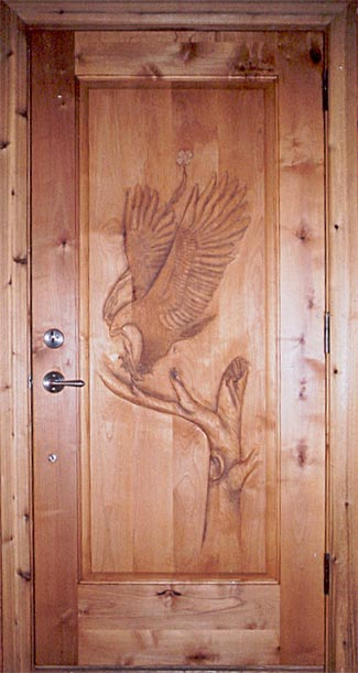 Horn Mountain Living - Eagle Carved Door & Horn Mountain Living - Fine hand-crafted wood furniture and home ...