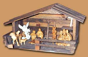 Horn Mountain Living - Carved Wood Sculpture - Nativity
