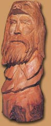 Horn Mountain Living - Carved Wood Sculpture - Butch