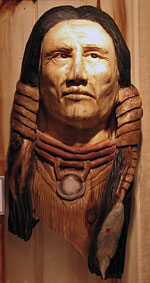 Horn Mountain Living - Carved Wood Sculpture - Half Breed
