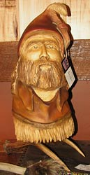 Horn Mountain Living - Carved Wood SculpturePierre - First Sight of the Tetons