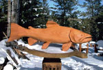 Horn Mountain Living - Carved Wood Sculpture - Fish